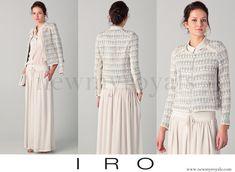 Swedish Princess Madeleine wears IRO Uma Diamond Print Jacket. www.newmyroyals.com