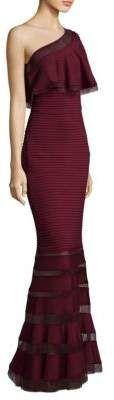 Tadashi Shoji Pintuck One-Shoulder Gown Formal Gown | Formal Dress #formalgown #formaldresses #fashion