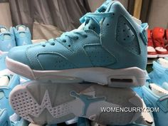 huge selection of 795dd bc438  Pantone  Air Jordan 6 GS Still Blue White Release Best. Nike Kd ShoesNew  ...