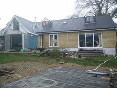 Ranch style timber  cladding. Renovation.