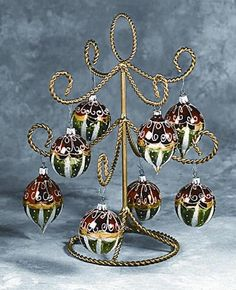 Ornament Trees - Gold Display - 13¾...The perfect little Christmas tree! So easy to decorate!