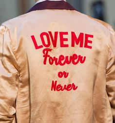 Love me forever. Or never.