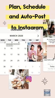 Learn how to schedule and automatically publish your content to Instagram (No notification required). Use some of these tools to plan, schedule and auto-post Instagram feed posts, videos, Story, Reels, Carousel, IGTV posts! It will save you loads of time while at the same time boost your Instagram social presence. You don't have to manually post to your Instagram business account anymore. #instagram #instagramtools #instagramtips #socialmedia Top Social Media, Social Media Trends, Social Media Graphics, Social Media Marketing, Instagram Schedule, Instagram Tips, Instagram Feed, Calendar March, Carousel