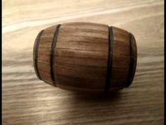 How I Make... Model Wooden Barrel - YouTube