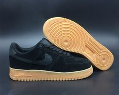 0e50039fb50ab New Nike Air Force 1 07 LV8 Suede Black Gum AA1117-001 - Mysecretshoes New
