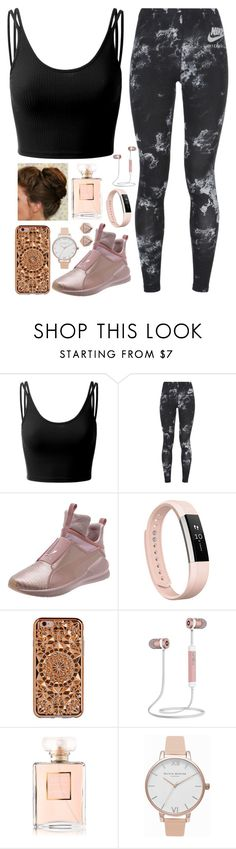 """Never in my life"" by tigerlily789 ❤ liked on Polyvore featuring Doublju, NIKE, Puma, Fitbit, Felony Case, Olivia Burton and FOSSIL"
