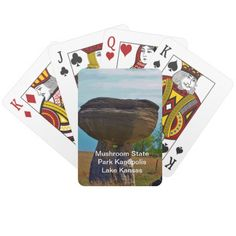 Mushroom State Park Kanopolis Lake PLAYING CARD'S