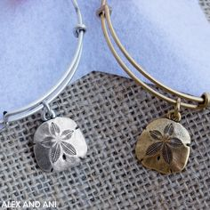 ALEX AND ANI SAND DOLLAR BANGLE!