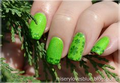 St. Patrick goes neon!  by QueenMiSeRy http://miserylovesblue.blogspot.it/2016/03/st-patrick-goes-neon.html