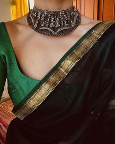 Image may contain: one or more people and closeup Simple Sarees, Trendy Sarees, Stylish Sarees, Fitness Workouts, Hurley, Saree Jewellery, Ted Baker, Saree Blouse Neck Designs, Saree Trends