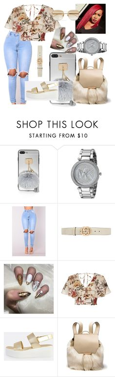 """""""time change the seasons"""" by dmolett on Polyvore featuring Michael Kors, Gucci, River Island, Kendall + Kylie and Sunday Somewhere"""