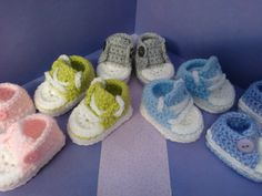 How to crochet my easy petite converse style slippers is my first of a set of my easy crochet converse style slippers. Larger sizes will be published soon. M...
