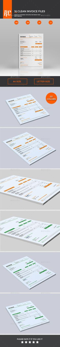 Invoice template Receipt template Invoice instant download - product invoice template