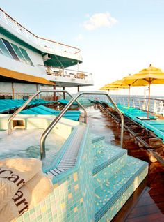 Carnival Elation~ Adults Only on the back of the ship!