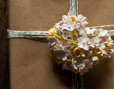white paper millinery flowers