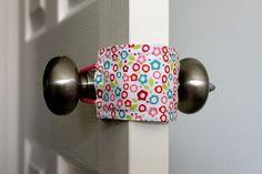 Door Jammer- open & close baby's door without making noise. Brilliant!
