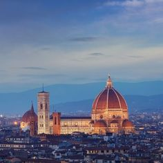 #Florence Cathedral of S.Maria in Fiore: #Giotto's Campanile and #Brunelleschi's Dome. www.citiesitaly.com