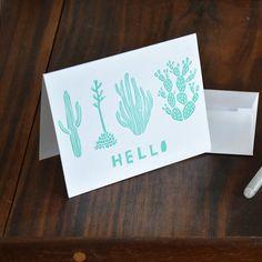 Hello Cactus Greeting card