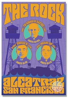 Groovy Frisco fine art prints of San Francisco icons in the style of the psychedelic Fillmore rock posters. Always designed & printed in San Francisco! Rock Posters, Concert Posters, Al Capone, Beautiful Posters, Psychedelic Art, Illustrations And Posters, Summer Of Love, Book Activities, The Rock