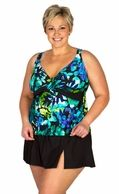 30% OFF Watercolor Tropics Skirtini 2 pc Swimsuit by Delta Burke® | Sales & Clearance
