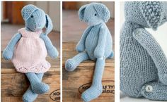 knit Lizzie rabbit | the knitting space