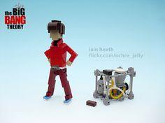 Personajes de Big Bang Theory hechos de Lego