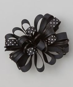 Love this Black Polka Dot Loopy Bow Clip on Memory Foam, Calves, Polka Dots, Bows, Bow Clip, Accessories, Hair Clips, Black, Arches