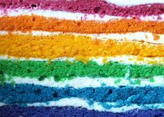 CHEZ LUCIE: Duhový dort Vanilla Cake, Desserts, Recipes, Yummy Yummy, Food, Cake Decorations, Tailgate Desserts, Deserts, Essen