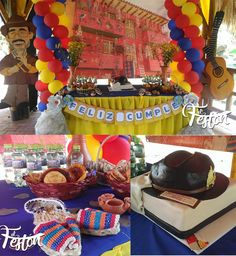 🌟Ballon towers from of house Fonda Paisa, 60th Birthday, Happy Birthday, Colombia Soccer, Café Bar, Equador, Party Table Decorations, Soccer Party, Carnival