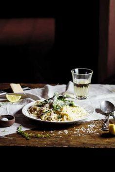 Lemon Chicken & Asparagus Pasta