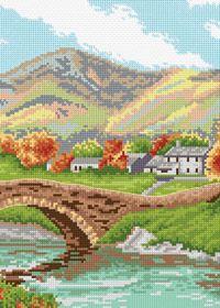 Free Anchor cross stitch chart: Bridge in Lake District
