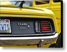 Yellow 340 Cuda Canvas Print / Canvas Art By Dean Ferreira