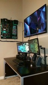 Wall Mounted Desk Setup