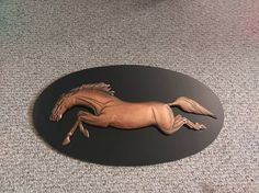 Check out this item in my Etsy shop https://www.etsy.com/listing/540972752/vintage-copper-horse-made-in-canada-by