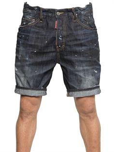 Dsquared2 Big Deans Bro Black Shadow Denim Shorts in Blue for Men | Lyst