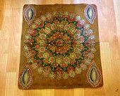Antique vieille couverture de table asiatique accroché mur textile vintage cuir argent broderie couvercle décoratif vieux Textiles expédition rapide par Fedex