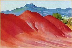 Georgia O'Keeffe Red Hills with the Pedernal, 1936. - Google Search