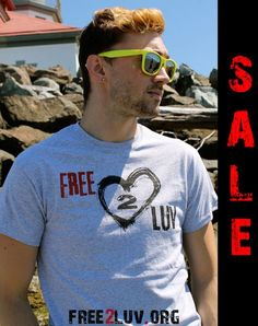 To celebrate National Coming Out Day, we are having a #Free2Luv TEE SALE! Wear yours with pride (in white or grey) and when you do, we will send you a FREE wristband and 3 tattoos! Put PRIDE in discount code. http://shop.free2luv.org/