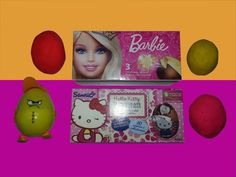 Surprise Eggs Barbie Hello Kitty Angry PlayDoh