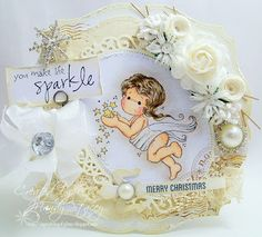 A Sprinkling of Glitter: Gorgeous cream colours and layout