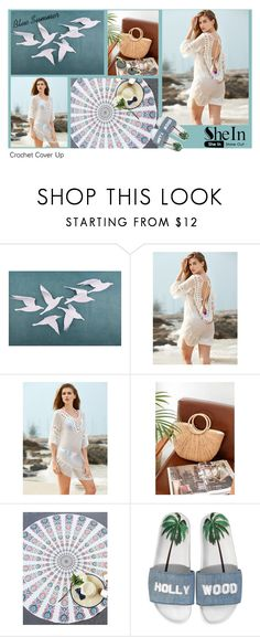 """Blue Summer"" by andrea-pok on Polyvore featuring WithChic, Joshua's, Summer, beach, cover and shein"