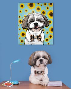 You can now have your pup custom made into pop art and printed onto your own canvas! www.popyourpup.com Use promo code PIN for 10% off!