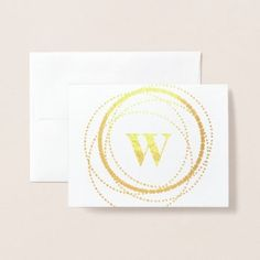 Simple classy Monogram Note Card | Zazzle.com Custom Stationary, Circle Monogram, Personalized Note Cards, Anniversary Quotes, Love Messages, Cursive, Folded Cards, Paper Texture, Dots