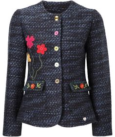 Joe Browns Beautiful Boucle Jacket - gorgeous bouclé jacket cut to a flattering fit. Check out the amazing button and embroidery details. #jacket