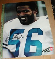 Dallas Cowboys Vintage football 1979 7up Promo Poster Thomas Hollywood Henderson