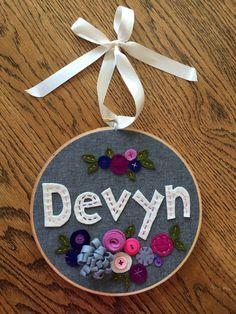 Miss Tweedle: Custom Embroidery Hoops for Miss Tweedle Crafts