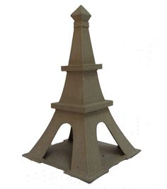 An adorable miniature Eiffel Tower for you to decorate. These decorations are made of hollow pressed cardboard with plain paper mache surfaces. Handmade Recycled paper 12inches Height