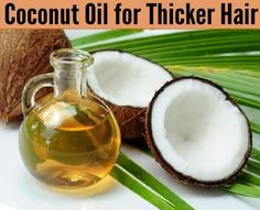 Encourage growth and make your hair look fuller and feel thicker with a few simple tips. Coconut Oil to Thicken Hair  This miracle oil works wonders on your skin and hair. Mix a tablespoon coconut oil