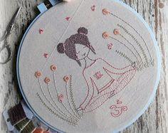 meditation embroidery pattern PDF