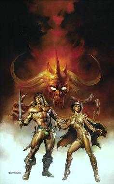 Conan the Fearless (1989) art by Boris Vallejo